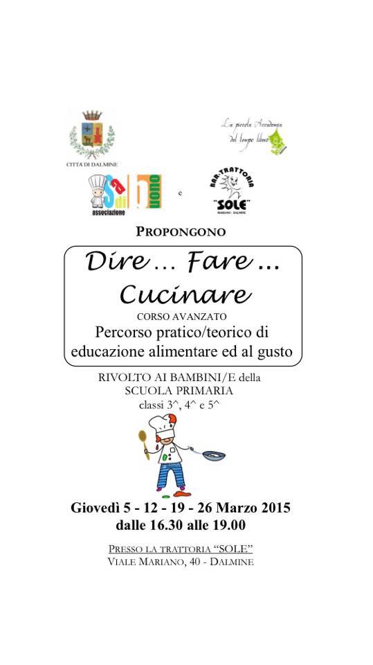 trattoria sole - corso dire fare cucinare - Corso Cucina Bergamo